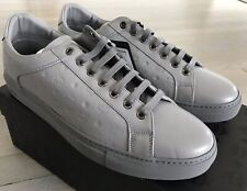 $500 MCM Light Gray Leather Sneakers size US 13, EU 46 Made in Italy