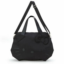 Cute!  SANRIO Hello Kitty Boston Bag (Face)  Black Fashionable Nice  From Japan