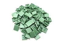 Sand Green 2x2 Tile Smooth Flat Finishing X50 by TCM Compatible Bricks BULK LOT