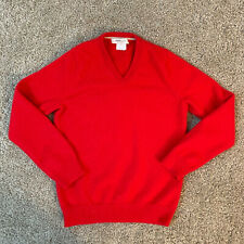 J. CREW Crewcuts Boys Size 8 Cashmere V-Neck Sweater Long Sleeves Bright Red