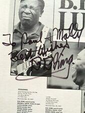 """B.B. KING Signed Autograph """"Lucille"""" Album Vinyl LP  BB B. B."""