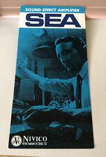 Vintage NIVICO Victor Japan SEA SOUND EFFECT AMPLIFIER dealer  Pamphlet