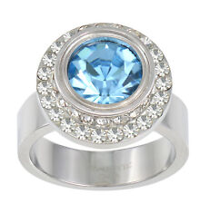 S.Michael Designs Stainless Steel Interchangeable Crystal & CZ Ring - SIZE 10