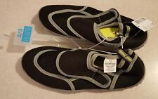 NWT Children's Place Boys Youth 2-3 Water Shoes BEACH Pool BLACK Swim #32018