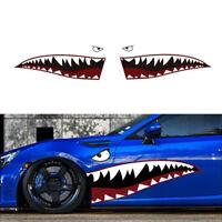 """2x 59"""" Car SUV Shark Mouth Teeth Flying Tiger Design Die-Cut Vinyl Decal Sticker"""