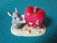 "CHARMING TAILS BY FITZ & FLOYD FIGURINE ""CANDY APPLE"" INSPIRATIONAL"