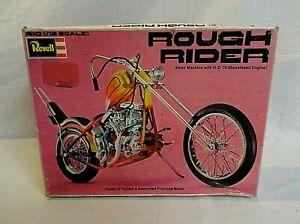 "WOW! 1976 REVELL ""ROUGH RIDER"" HARLEY DAVIDSON CHOPPER MOTORCYCLE 1/12 MODEL KIT"