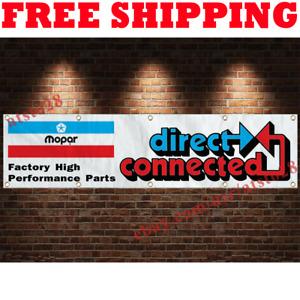 Mopar Direct Connection Banner Flag 2x8 ft Car Show Garage Wall Decor Sign 2021