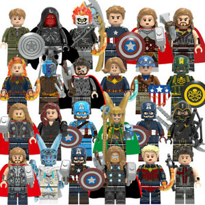 Marvel Hulk Avengers Iron Super-Man Mini Figures DC Heroes Thor Batman