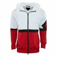 Jordan Sportswear Diamond White Red Nylon Track Jacket Mens AQ2683-100 Size M