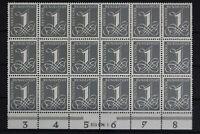 Deutschland (BRD), MiNr. 226 y, 18er Bogenteil m. HAN 315074.1, postfrisch / MNH