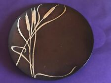 Antique Sterling On Bronze Art Plate , Circa 1912 Signed  -Heins