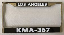 Chrome Los Angeles Police Department LAPD KMA 367 License Plate Frame