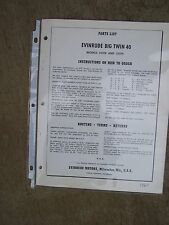 1959 Evinrude Big Twin 35 HP Outboard Parts List 35012 35013   MORE IN STORE  U