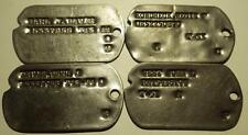 4 U.S. Military Dog Tags 2 WWII 1943-44 & 2 Korea 1951-53(see pictures)