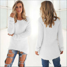 Women's Warm Winter Batwing Sleeve Knitted Sweater Jumper Pullover Tops Blouse