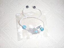 Bijoux fantaisie Bracelet main de Fatma Shamballa avec strass turquoise