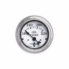"""Stewart Warner Black Wings Electrical Oil Temperature Gauge 2 1/16"""" Dia 82489"""