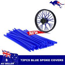 72pcs Blue  Wheel Spoke Skin Cover Wrap Kit 4 Motorcycle Motocross Dirt Bike AU