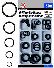 O-Ringe Sortiment 50tlg. 5-20mm Acrylkautschuk säure- / hitze- und ölbeständig