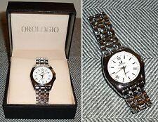 Orologio Da Polso - UOMO - ORLANDO QUARTZ - STAINLESS STEEL BACK - Z:310 - Nuovo