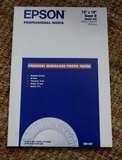 "Sealed Epson Premium SemiGloss Photo Paper Super B A3 S041327 13""x19"" 20 Sheets"