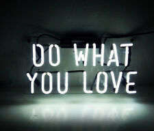 """14""""X7"""" Do What You Love Beer Bar Neon Sign Light Art Work Party Garage Clubs"""