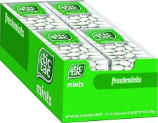 Tic Tac Fresh Breath Mints,Freshmint,Bulk Hard Candy Mints,1 oz Singles,12 Count