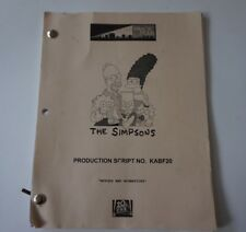 """The Simpsons KABF20 production script edpisode """"Mypods and Broomsticks"""""""