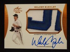 Walker Buehler 2015 Trinity AUTO Game Worn Jersey PATCH DODGERS ROOKIE RC CARD