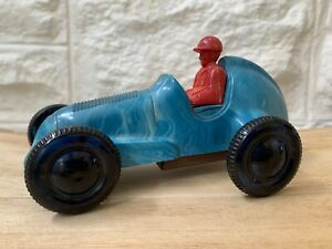 Antique Marbled Bakelite Racing Car~Wind Up~Fethalite 86~Australian Made~RARE