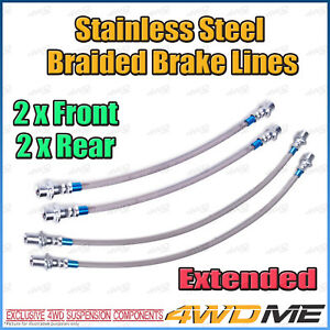 Fits TOYOTA HILUX KUN26 N70 4WD EXTENDED Stainless Steel Braided Brake Lines ABS