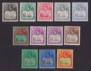 St Helena. 1922-37. SG 97-109, 1/2d to 2/6. Mounted mint.