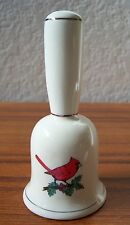 Vintage Cardinal Bird On Perch Ceramic Figure Sculpture Red Multi Estate Piece