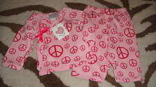 NWT NEW MAD SKY 3M 3 MONTHS PINK PEACE SIGN TOP PANT SET