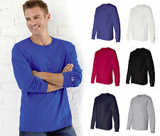 Champion Long Sleeve Tagless T-Shirt, Comes in 6 Colors & 5 Sizes, (CC8C)