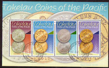 NEW ZEALAND TOKELAU 2009 COINS OF THE PACIFIC FINE USED MINIATURE SHEET