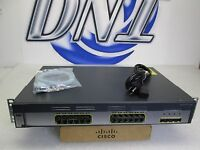 Cisco WS-C3750G-24TS-S 24-Port 1000BASE-T +4x SFP Gigabit Ethernet Switch CTC