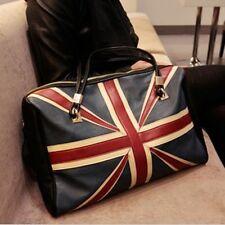 New Women Retro UK British Flag Hobo Bag Tote ladies PU leather Shoulder Handbag