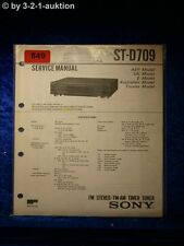 Sony Service Manual ST D709 Tuner (#0849)