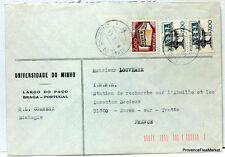 PORTUGAL    TIMBRES  OBLITERES SUR LETTRE   port gratuit LE75