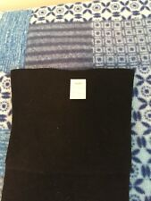 One Pair Antique Black Cotton garter stockings 8 1/2 Flat Knit Seamed Double Sol