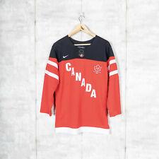 Boys Nike IIHF Team Canada Hockey Jersey Red BNWT Size L/XL
