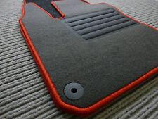 $$$ Original Lengenfelder Fußmatten für Smart Fortwo 453 + Rand ROT + NEU $$$