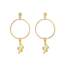 Gold Plated Snake Charm Hoops Earrings in Gift Box | Fashion Jewellery