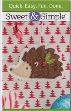 PATTERN - Festive Hedgehog - cute and easy decoration PATTERN