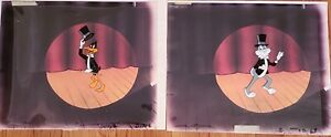 """Bugs and Daffy Hand Painted """"Bugs Bunny and Tweety Show"""" (2) Production Cels"""
