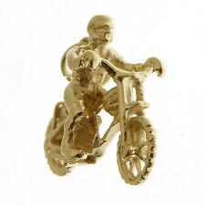 GOLD MOTO X BIKE CHARM.   HALLMARKED 9 CARAT GOLD SCRAMBLE OR MOTO X BIKE CHARM