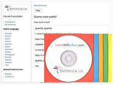 Curso de lengua italiana Flashcards nativo voz en off 300 lecciones en CD-ROM y Web