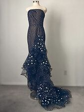OSCAR DE LA RENTA  Polka Dot Ruffled High/Low Tulle Gown, 10 US $6,890 - NEW